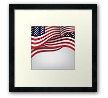 American flag illustration Framed Print