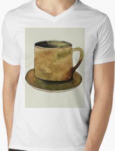 Mug on Plate Mens V-Neck T-Shirt