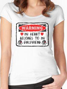 Heart Belongs To Girlfriend Women's Fitted Scoop T-Shirt