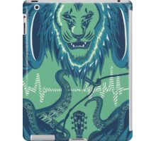 The Lion, the Pitch, and the Headphones iPad Case/Skin