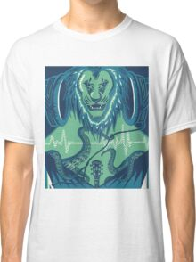 The Lion, the Pitch, and the Headphones Classic T-Shirt