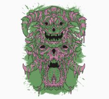 SKULL BROS. Green and Pink Colorway One Piece - Short Sleeve