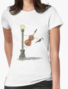 Bassy in the Rain Womens Fitted T-Shirt