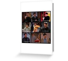 Ross Geller Quotes Collage #3 Greeting Card