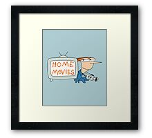 Home Movies Framed Print