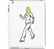 walking walking woman sport iPad Case/Skin