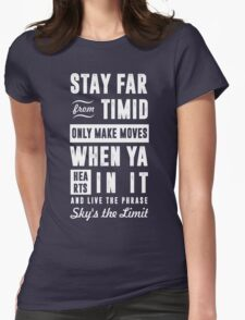 SKY'S THE LIMIT  Womens Fitted T-Shirt