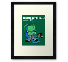 Pee in the Woods  Framed Print