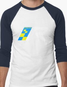 Volvo R Design Racing Graphic WHT2 Men's Baseball ¾ T-Shirt