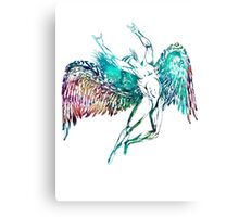 ICARUS THROWS THE HORNS - monet waters Canvas Print