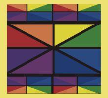 Geometric Stained Glass Window Design Kids Tee