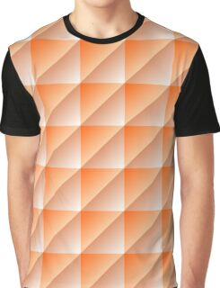 Orange Squares Triangles Abstract Geometric Pattern Graphic T-Shirt