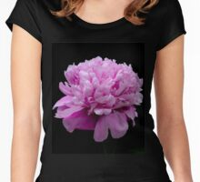 My Blooming Pink Peony Women's Fitted Scoop T-Shirt