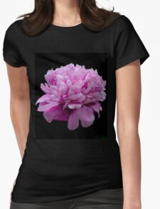 My Blooming Pink Peony Womens Fitted T-Shirt