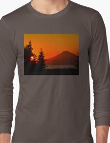 Orange Sky - Mt. Redoubt Long Sleeve T-Shirt