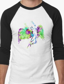 ICARUS THROWS THE HORNS - trippin' on XTC Men's Baseball ¾ T-Shirt