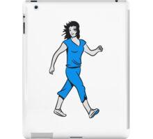 walking sport woman iPad Case/Skin