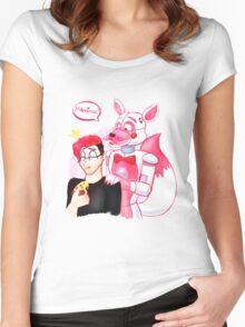 markiplier - it backs! Women's Fitted Scoop T-Shirt