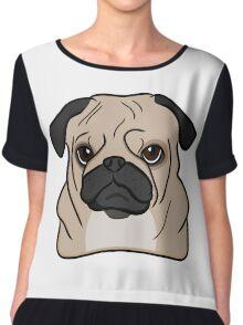 Pug Chiffon Top