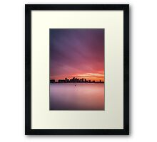 Boston Harbor Spring Sunset Framed Print