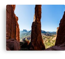 Cathedral Rock - Between The Spires Canvas Print