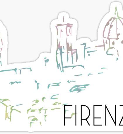 Florence Pastel Cityscape Sticker