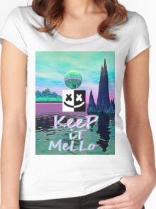 Trippy kEEp iT MeLLo Set Marshmello x Slushii Women's Fitted Scoop T-Shirt