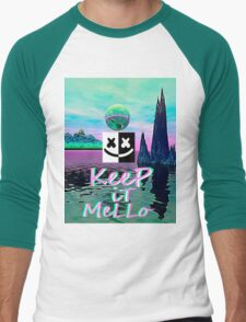 Trippy kEEp iT MeLLo Set Marshmello x Slushii Men's Baseball ¾ T-Shirt