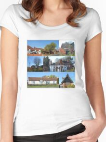 Cottages Collage Women's Fitted Scoop T-Shirt