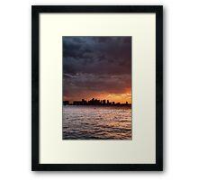 Boston Harbor sunset Framed Print
