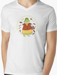 Candy Corn Halloween Trick or Treater Mens V-Neck T-Shirt