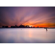 Harbor sunset Photographic Print