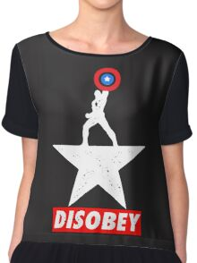Captain USA Disobey Chiffon Top