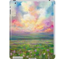 Colourful Cloudy Sky Sunset Landscape Painting iPad Case/Skin