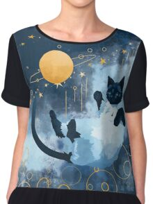 Galaxy Cat Chiffon Top