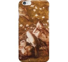 Edward Burne-Jones  - Study For  The Sleeping Knights About 1870. Burne-Jones  - people portrait. iPhone Case/Skin