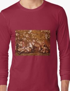 Edward Burne-Jones  - Study For  The Sleeping Knights About 1870. Burne-Jones  - people portrait. Long Sleeve T-Shirt
