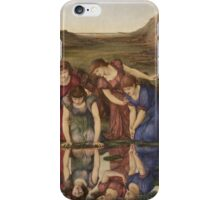 Edward Burne-Jones  - The Mirror Of Venus 1877. Burne-Jones  - woman portrait. iPhone Case/Skin