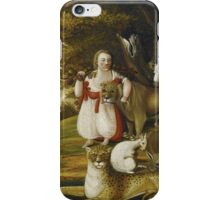 Edward Hicks - A Peaceable Kingdom With Quakers Bearing Banners. Hicks - animals. iPhone Case/Skin