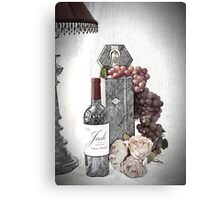 Sketching a Wine Tasting Evening Canvas Print