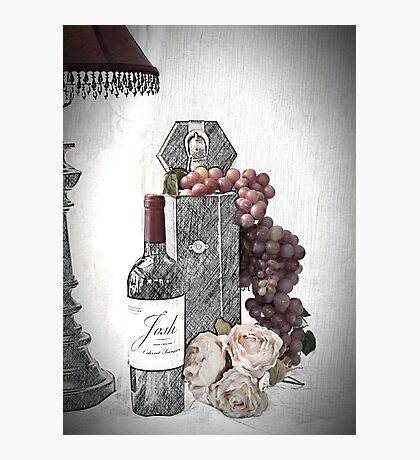 Sketching a Wine Tasting Evening Photographic Print