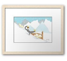 Penguin Slippery Slide Framed Print