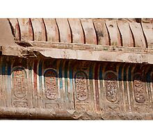 Egypt Kom Ombo paints Photographic Print