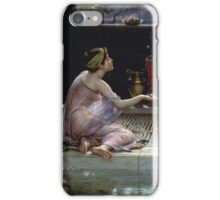 Edward Poynter - When The World Was Young 1891. Poynter - woman portrait. iPhone Case/Skin