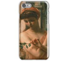Edward Poynter - Psyche In The Temple Of Love 1882. Poynter - woman portrait. iPhone Case/Skin