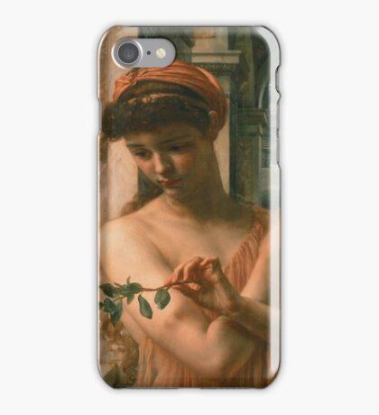 Edward Poynter - Psyche In The Temple Of Love 1882. Poynter - woman portrait. iPhone Case/Skin