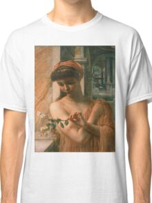 Edward Poynter - Psyche In The Temple Of Love 1882. Poynter - woman portrait. Classic T-Shirt