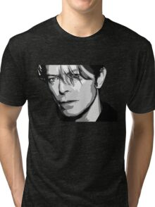Black and White Vector Portrait of a music legend Tri-blend T-Shirt