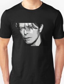 Black and White Vector Portrait of a music legend Unisex T-Shirt
