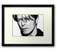 Black and White Vector Portrait of a music legend Framed Print
